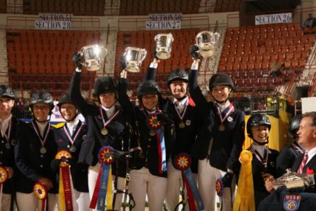 The awards ceremony was held this afternoon for the ,000 Randolph College/ USEF Prix des States Team Championship. Zone 5 took home the gold medal and Team Title.