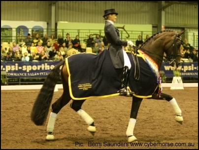 A very proud Maree Tomkinson on her exciting young mare Diamantina