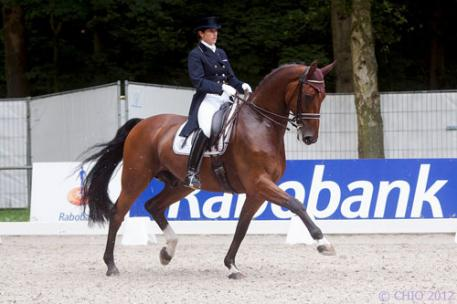 Tinne Vilhelmson-Silfven, third in the Grand Prix and fourth in the Freestyle with Don Auriello at the Reem Acra FEI World Cup™ Dressage Final in Gothenburg last month and triumphant in both the Grand Prix and Freestyle at Munich last weekend, heads the Swedish team for the opening leg of the FEI Nations Cup™ Dressage in Vidauban aboard Divertimento. (Photo: CHIO Rotterdam 2012)