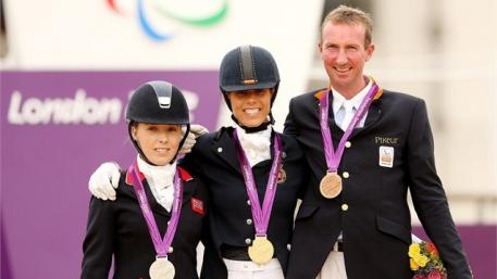 Sophie Wells silver, Michele George gold and Frank Hosmar bronze