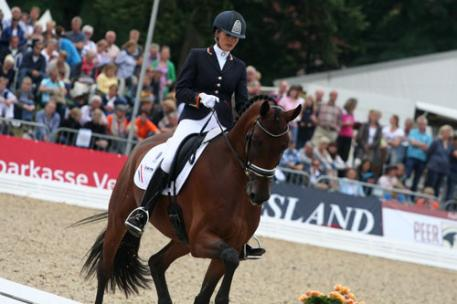 The silver medal became Borencio ridden by Emmelie Scholtens