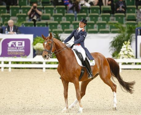 Jerich Parzival spooked, which took Cornelissen by surprise. It resulted in fourth position (Photo: Julia Rau)
