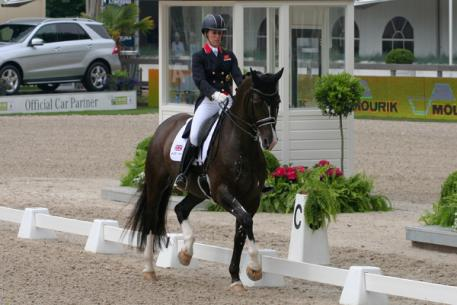 Charlotte Dujardin, produced the biggest score of the competition with a strong performance from her London 2012 Olympic Games double-gold medal winning partner, Valegro. (Photo: Marjon Hoen for dressagedirect)
