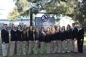 The 2014 Saddle Seat World Cup Team at Cascade Stables for their first training session (Betty Tucker)