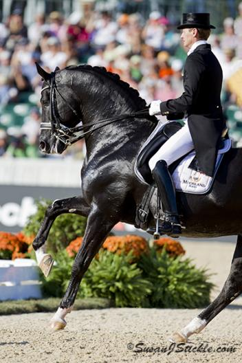 Edward Gal and Totilas at the 2010 World Equestrian Games Photo: SusanJStickle