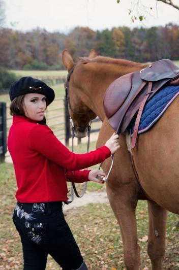 Caitlin Beadles during the Style My Ride photo shoot. (Photo: courtesy of Erin Michele Photography)