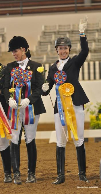 Courtney King-Dye celebrates her first competition as a para equestrian