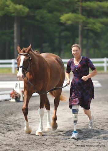 Robin Brueckmann and Radtezky at the 2012 Paralympic Selection Trials/ National Championships (Photo: Lindsay Y McCall)
