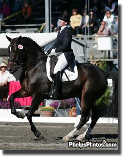 Tara Stegen and New Tago at Dressage at Devon 2005
