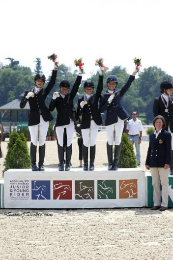 Team Quebec takes Gold in the FEI North American Junior Championship at the Adequan FEI North American and Young Rider Championships. (Photo: SusanJStickle.com)