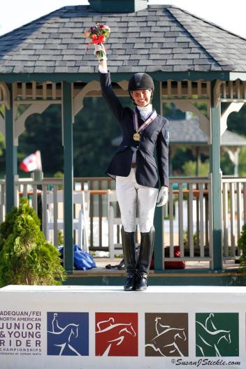 2012 FEI Freestyle Gold Medalist Laurence Blais Tetreault wins her second gold medal in the FEI Junior Freestyle Championships July 20, 2013. (Photo: SusanJStickle.com)