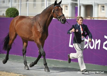Lord Ludger (ridden by Rebecca Hart of USA) and Chef d'Equipe Missy Ransehousen  (Photo: Lindsay Yosay McCall)