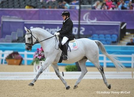 High Performance rider Dale Dedrick and Bonifatius compete at the 2012 Paralympics in London. (Photo: (C) Lindsay Y McCall)