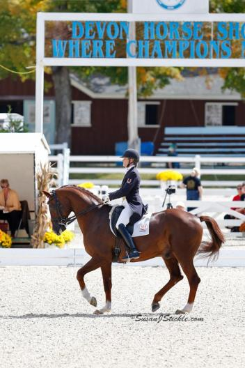 Ashley Holzer and Jewel's Adelante - First Place in the FEI Grand Prix for Special at Dressage at Devon CDI-W held Sept. 26-29, Devon, PA. (Photo: SusanJStickle.com)