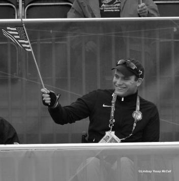 Jonathan Wentz at the 2012 London Paralympics cheering his team on. (Photo: (c) Lindsay Yosay McCall)
