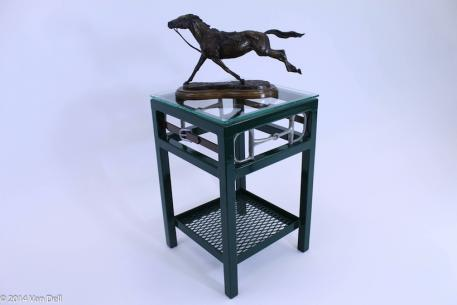 The Van Dell Collection offers pieces of equestrian-themed furniture that are practical and attractive in both the home and the barn. (Photo courtesy of The Van Dell Collection)