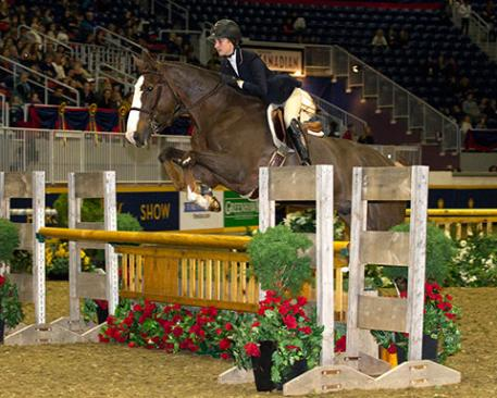 Alexandra Perry of Vancouver, BC won the 2013 Canadian Championship Jump Canada Medal on Nov. 5 at the Royal Horse Show in Toronto, ON Photo Credit - Cealy Tetley