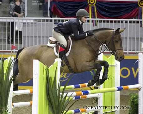 Nora Gray of Owen Sound, ON emerged as the overall winner of the 2013 Running Fox CET Medal Final on Nov. 7 at the Royal Horse Show in Toronto, ON. Photo Credit - Cealy Tetley