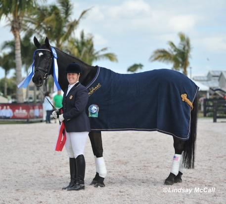 Mary Jordan and Sebastian earn High Point Rider award at the 2013 Adequan Global Dressage Festival CPEDI3* (Photo: (C) Lindsay McCall)