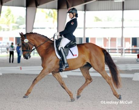 Lauren Barwick (CAN) and Off To Paris (Photo: (C) Lindsay McCall)