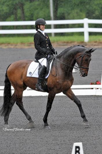 Rebecca Hart and Lord Ludger on their way to winning the Grade II Individual Test Photo: SusanJStickle.com