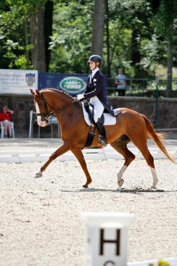 Caroline Roffman and Pie at the 2012 USEF Dressage Festival of Champions (Photo: SusanJStickle.com)