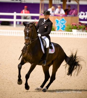 Steffen & Ravel During Thursday's Olympic Grand Prix Freestyle Photo: Shannon Brinkman