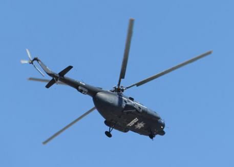 The helicopter that seemed to drop down low at all the wrong times.(photo: Diana de Rosa)