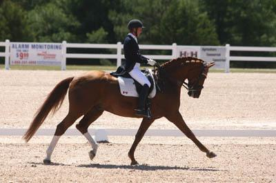 Diane Creech and Devon L danced to first place in the Grand Prix Freestyle at CDI-W Cornerstone Spring Into Dressage. Photo Credit: Michael Werner Images