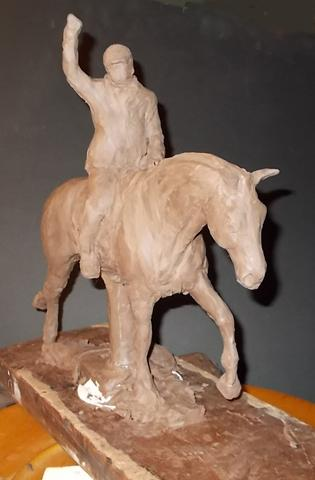 Jonathan Wentz Memorial Perpetual Trophy  This trophy is in a clay form. The bronze trophy goes through phases of production before it reaches the final bronzed look.