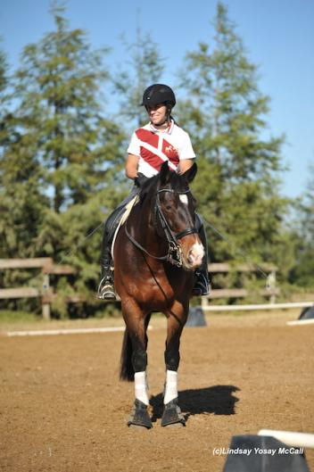 Ashleigh Flores-Simmons and Verite at the 2013 U.S. Para-Dressage National Symposium in Winters, CA. Photo by Lindsay McCall