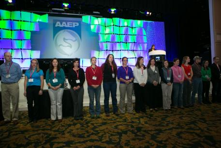 Nearly 50 previous scholarship recipients were in attendance for the  Student Luncheon at the AAEP's 59th Annual Convention in Nashville, Tenn