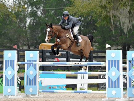 Aaron Vale and Gems Bond were the ones to beat in the ,500 Brook Ledge Open Welcome 1.40m at HITS Ocala. ©ESI Photography