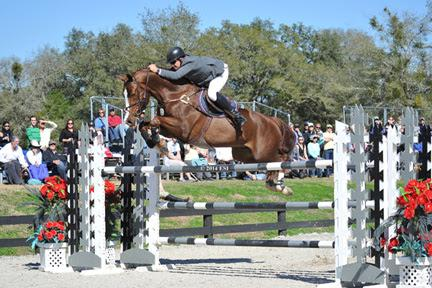 Aaron Vale and Spirit of Alena win the ,000 HITS Grand Prix, presented by Zoetis, at HITS Ocala. ©ESI Photography
