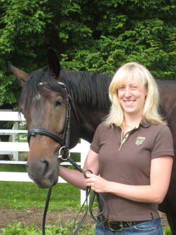 Abbey Henderson and Astro. Abbey created the Elysium Farm Fund at The Dressage Foundation last year.