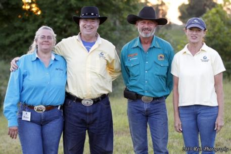 ACTHA at Kenny Harlow's Cedar Creek Ranch.  From left to right, Robin Tilghman (Marketing for ACTHA), David Issenman, Kenny Harlow, and Nancy Issenman.
