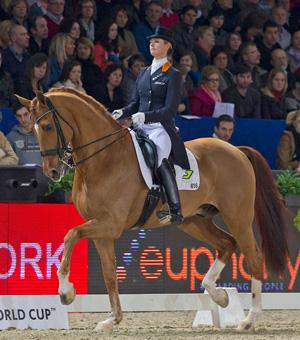 Adelinde Cornelissen and Jerich Parzival from The Netherlands (Photo: © FEI/Dirk Caremans)