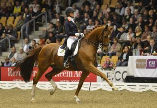 Adelinde Cornelissen (NED) and Jerich Parzival in the first leg of the Reem Acra FEI World Cup™ Dressage 2012/2013 in Odense (DEN). (Photo: Annette Boe Ostergard/FEI)