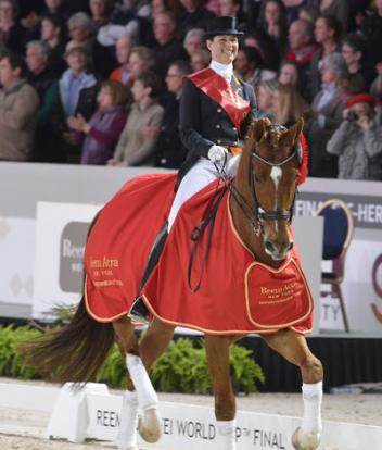 Defending champions, Adelinde Cornelissen and Parzival, will be striving for their third consecutive Reem Acra FEI World Cup™ Dressage title in the 2012/2013 series which begins at Odense, Denmark next weekend. (Photo: Kit Houghton/FEI)