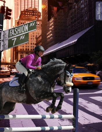 For 2014 ESP Spring ,000 Grand Prix, one fence will get a fashion makeover by Official Presenting Sponsor 2kGrey, an exciting new name in modern equestrian apparel. (Photo courtesy of 2kGrey)
