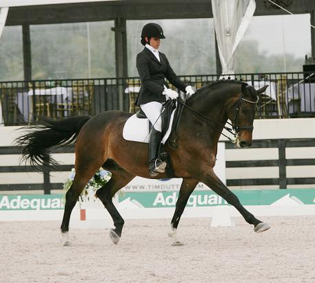 Alex Singh and her horse Legacy Farms Charmander at the Florida Youth Dressage Championships  Photo: Betsy LaBelle