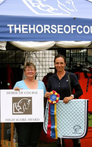 Beth Haist (left) of the Horse of Course and Allison Brock