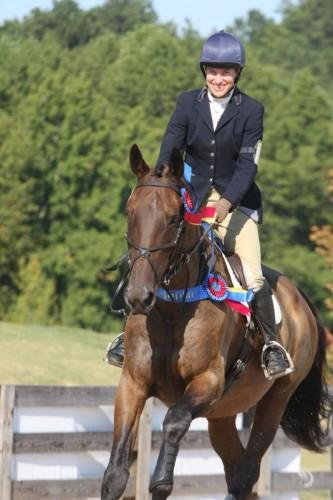 Amy and Gallerone at the 2011 AECs. Photo courtesy of Leslie Threlkeld/USEA.