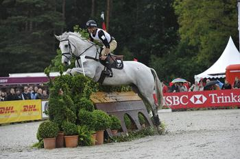 Andrew Nicholson and Cruise Control, pictured at the HSBC Complex, sailed into the lead after Cross Country at Luhmühlen CCI4*, presented by DHL PAKET (Photo: Kit Houghton/FEI).