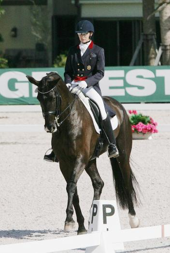 Angela Jackson and Allure compete at the Global Dressage Festival  Photo: Betsy LaBelle