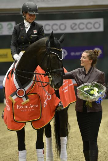 Denmark's Anna Kasprzak and Donnperignon won the opening leg of the Reem Acra FEI World Cup™ Dressage 2013/2014 Western European League series on home turf at Odense (DEN). (Photo: FEI/Annette Boe Østergaard)