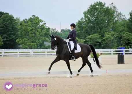 Anna Marek and Unico G will compete in the Grand Prix US Dressage Finals Photo: Kristin Posner