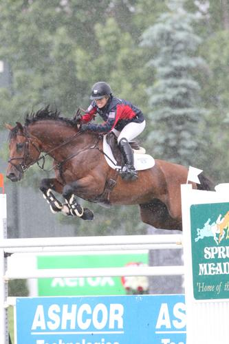 Ashlee Bond and Agrostar shined in round one and braved the rain in round two for their win in Saturday's ,000 ASHCOR Technologies Cup. Photos © Spruce Meadows Media Services.