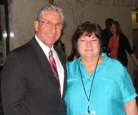 Equine Advocates Founder and President Susan Wagner with Assemblyman Jim Tedisco. (Photo: Sue McDonough)