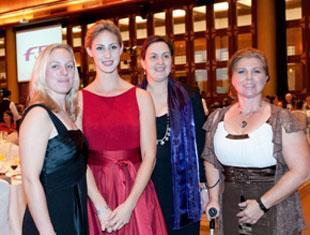 The FEI Award winners, from left to right: Michelle Tipper(GBR), Caroline Roffman (USA), Ros Spearing (GBR) and Angelika Trabert (GER). ©  William Tzeng